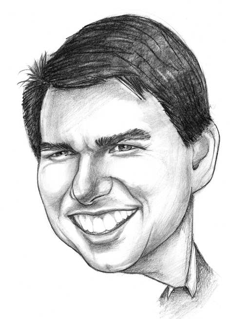 tom cruise karikatura